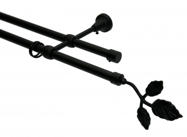 16mm Garnitur Blatt, 2-lauf, schwarz