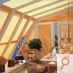 Plissee für den Dachbereich in Wintergärten